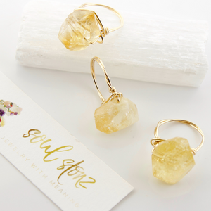 Citrine Nugget Rings