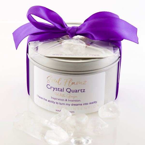 Crystal Quartz Candle
