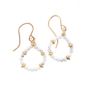 Micro Gem Earrings - Howlite