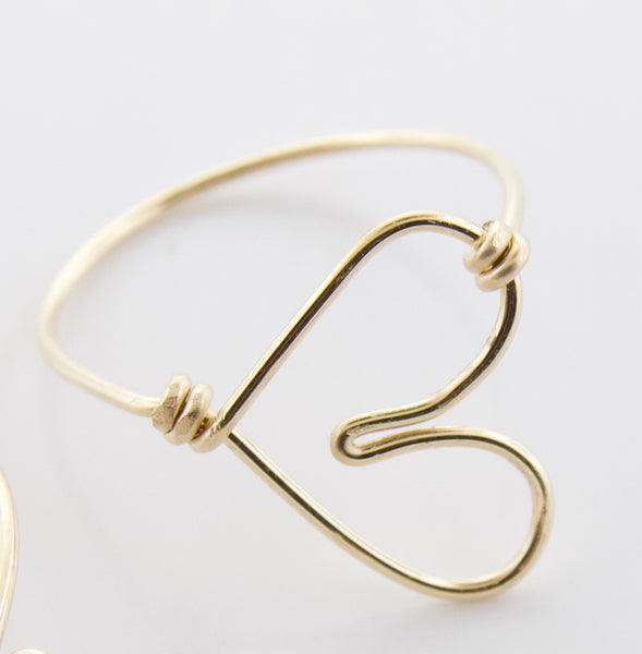 Wire Heart Rings