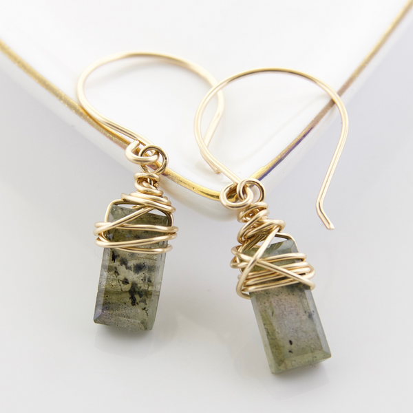 Tangle Earrings - Labradorite