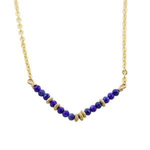 Glimmer V Necklace - Lapis