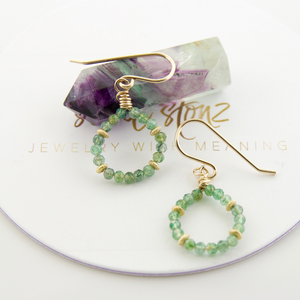 Micro Gem Earrings - Aventurine