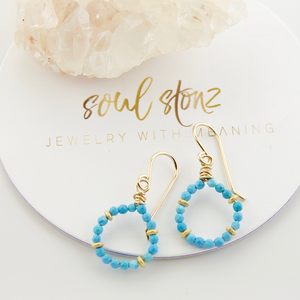 Micro Gem Earrings - Turquoise