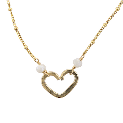 Heart Center Necklace  - Moonstone
