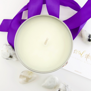 Moonstone Gemstone Candle