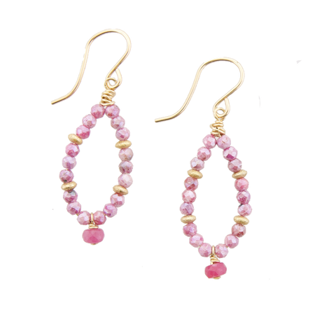 Fairy Earrings Pink Jade