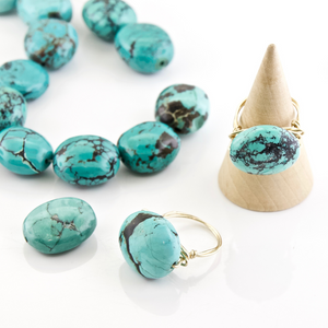 Turquoise Nugget Rings