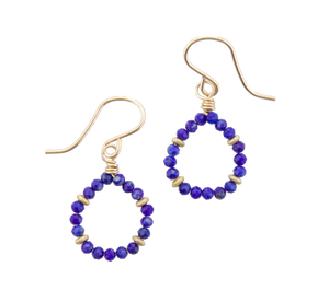 Micro Gem Earrings - Lapis