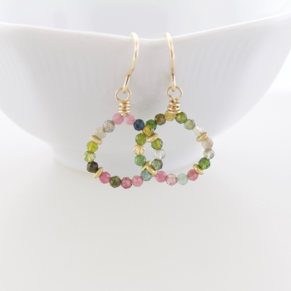 Micro Gem Earrings - Tourmaline