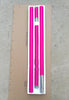 Pink Rubber Pole Quick Set Up Spin and Static Dance Pole