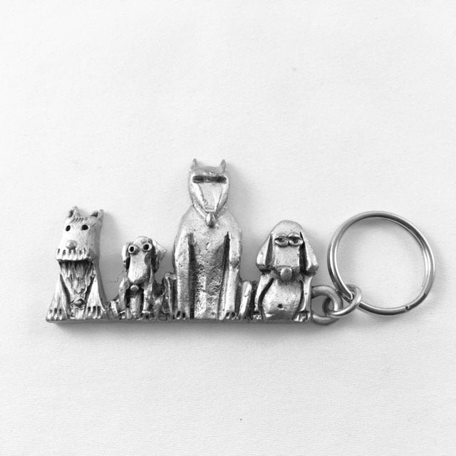 LK14 - 4 Dog Keychain