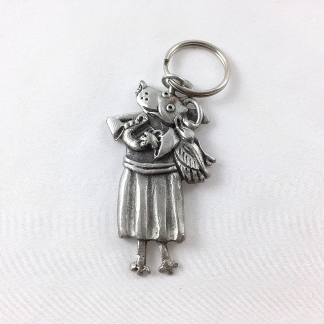 LK28 - Angel Dog Keychain
