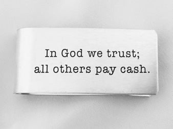 MC61-In God we trust... Money Clip
