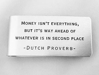 MC69-Dutch Proverb Money Clip