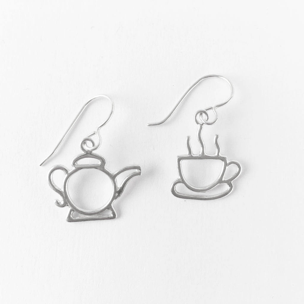 WCE -Teacup (or Coffee Cup)/Teapot Earrings - Sterling Silver