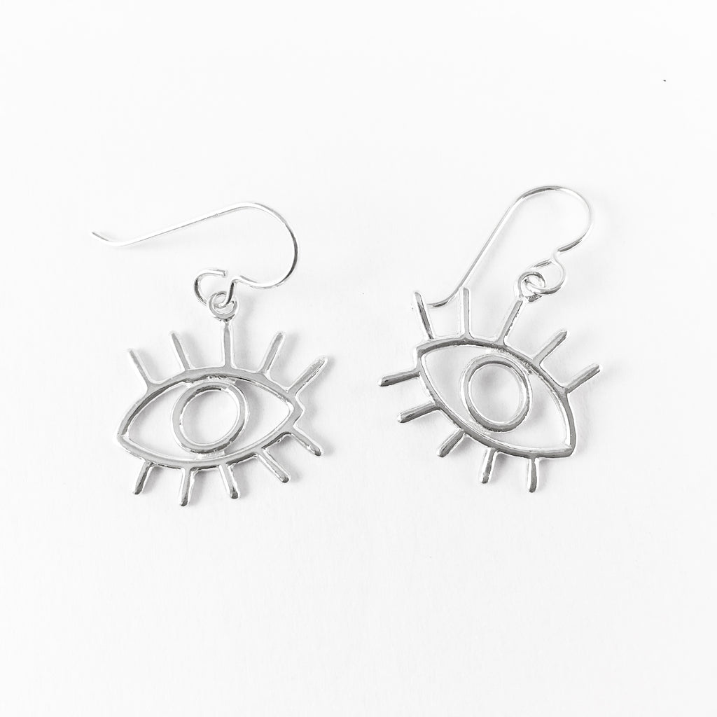 WCE - Eye Earrings - Sterling Silver