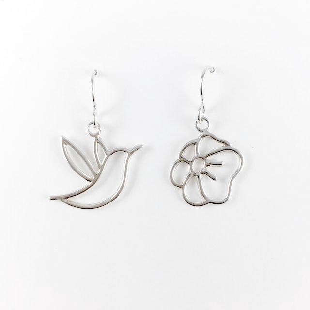 WCE - Hummingbird/Flower - Sterling Silver