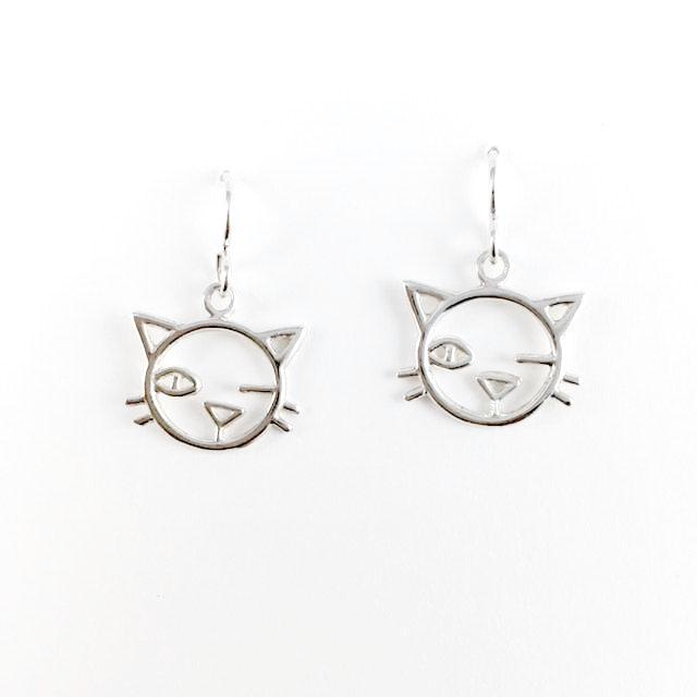 WCE - Winking Cats - Sterling Silver