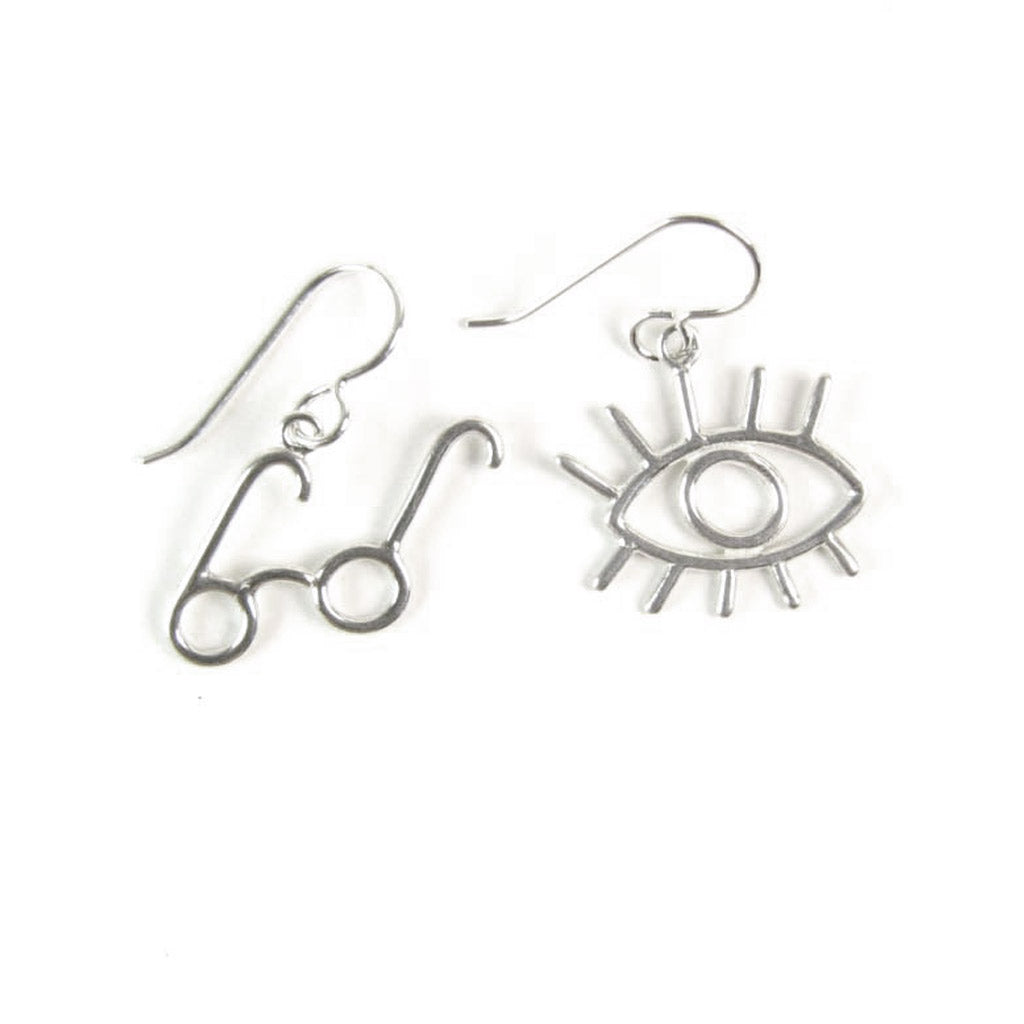 WCE05- Eye and Specs Earrings - Sterling Silver