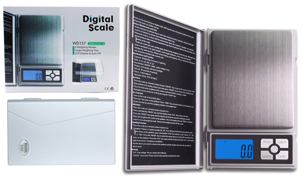 Digital Scale With Large Weighing Tray 500g X 0.01g