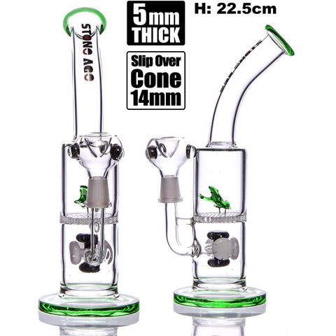 Stone Age With Frog & Honeycomb Perc Green