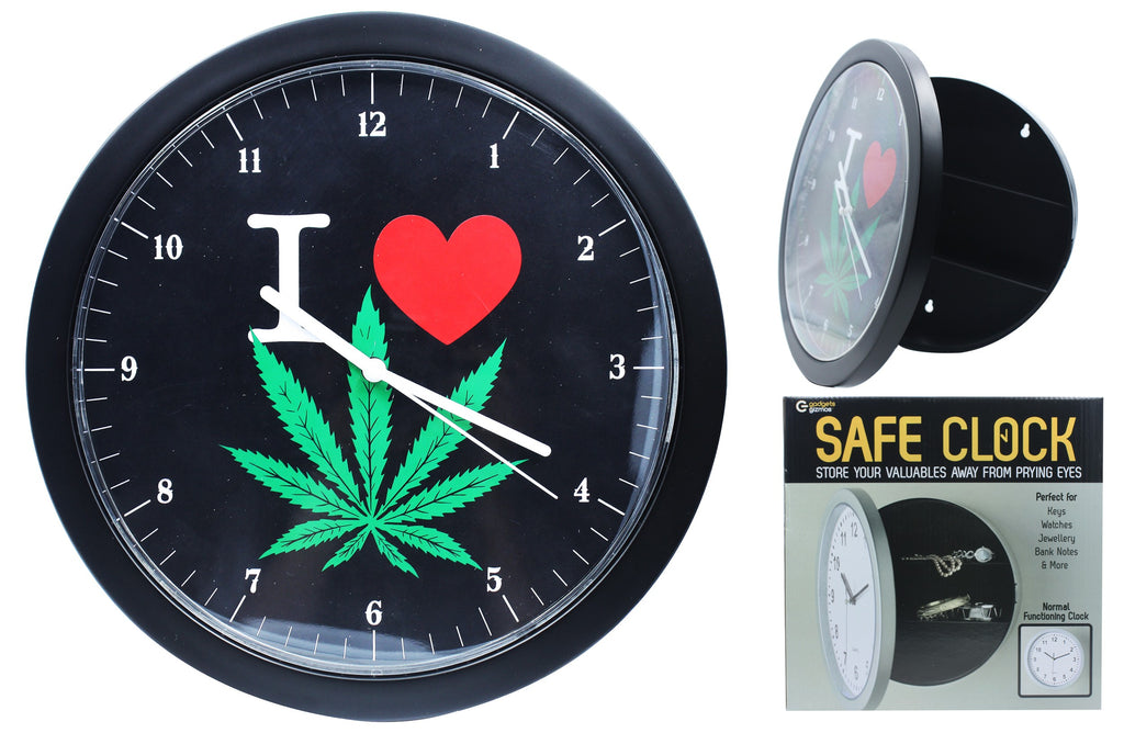 I Love Weed Safe Clock - BongsMart
