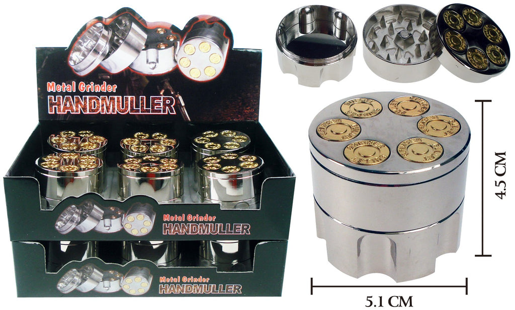 Extra Large 6 Shooter Grinder With Storage - BongsMart