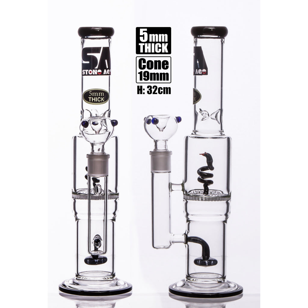 Stone Age with Snake & Showerhead perc black