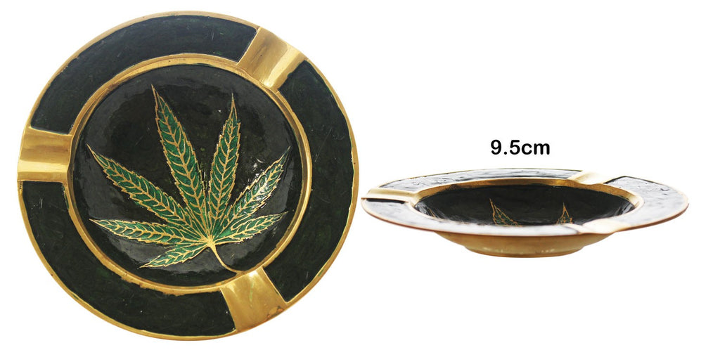 Small Brass Leaf Ashtray \ Bowl 1/10 - BongsMart
