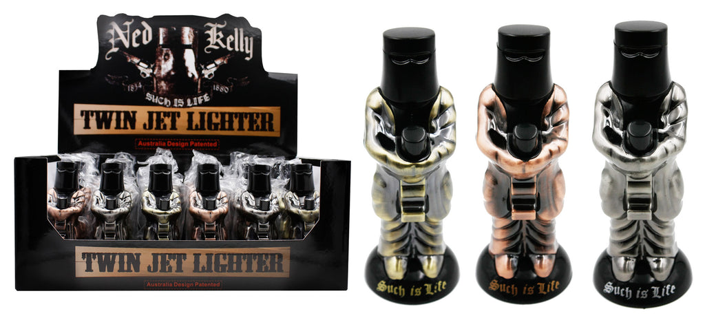 Ned Kelly Twin Jet Lighter