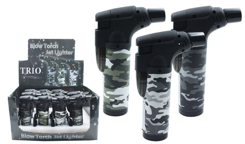 Camo Stand Up Blowtorch Jet Lighter