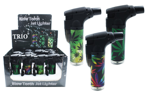 Leaf Stand Up Blowtorch Jet Lighter