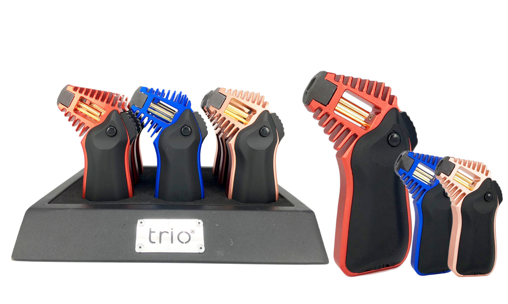 Trio Medium Metallic Rocket Flame Lighter