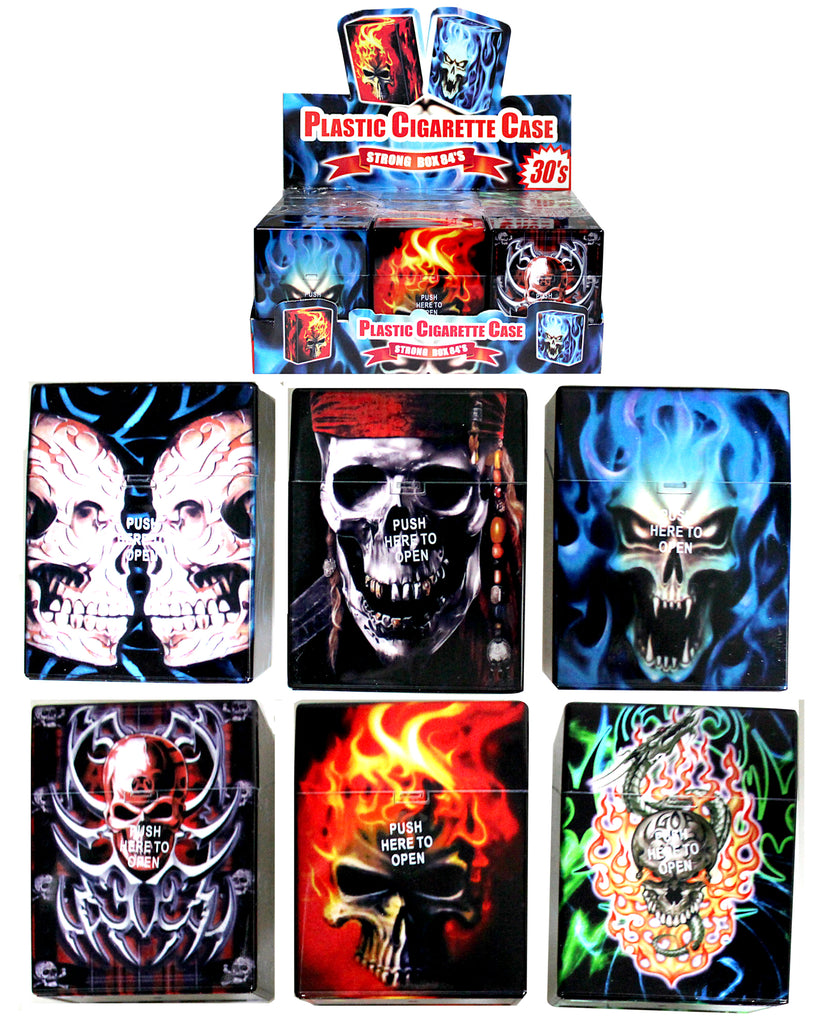 Mixed Skull Auto Open Holds Packet Of 30's
