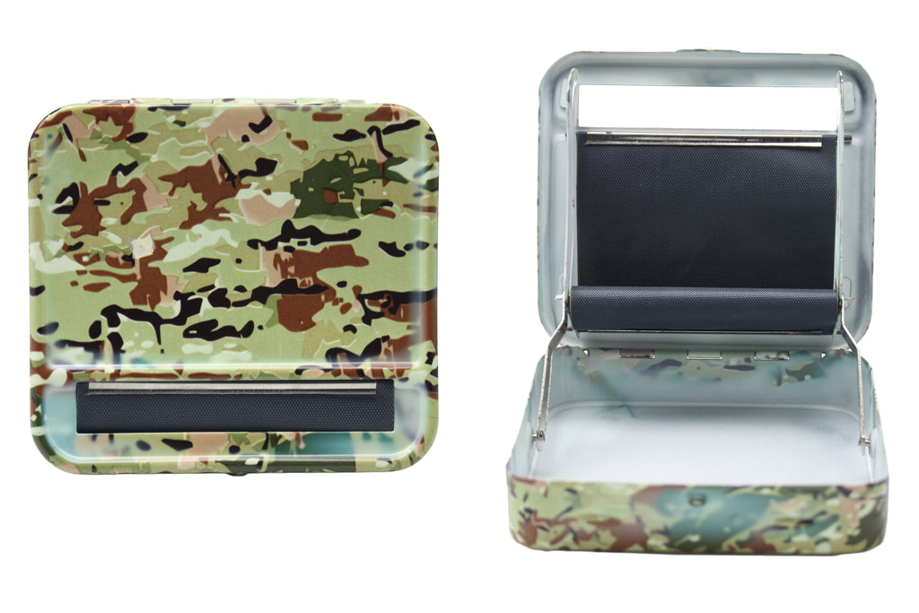 Metal Roller & Tobacco Case - Camo