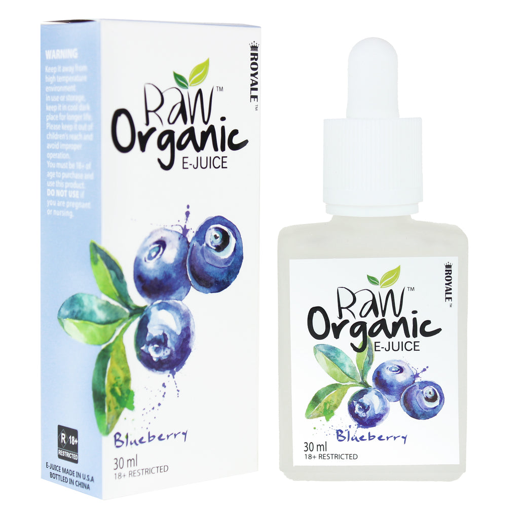 Raw Organic E-juice 50%VG 30ml - Blueberry