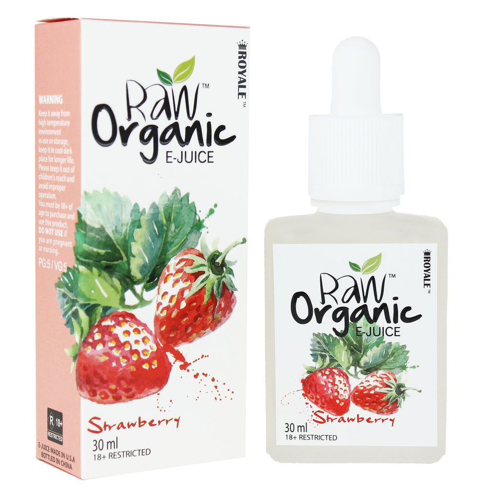 Raw Organic E-juice 50%VG 30ml - Strawberry