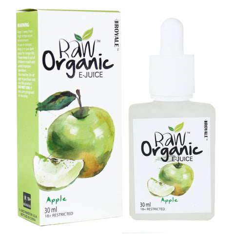 Raw Organic E-juice 50%VG 30ml - Apple