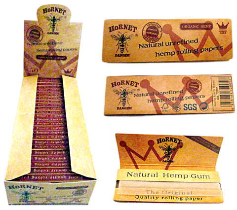 Normal Size Natural Unrefined Hemp Rolling Papers
