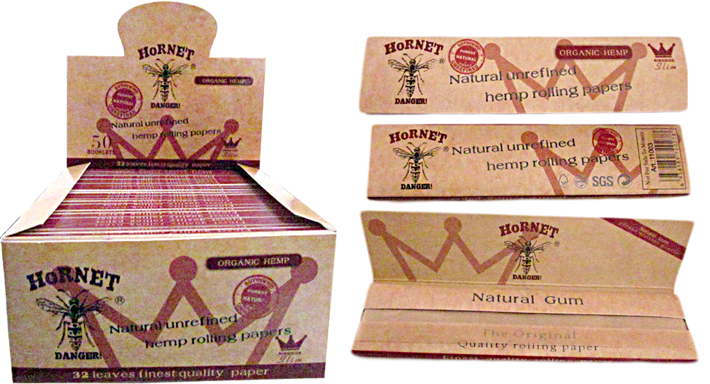 King Size Natural Unrefined Hemp Rolling Papers