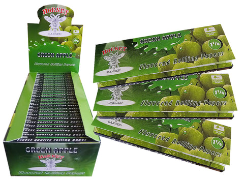 Hornet Rolling Papers Standard Size - Green Apple Flavour