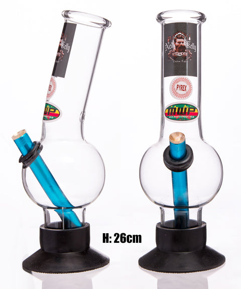 Medium Glass Bent Bonza - Ned Kelly