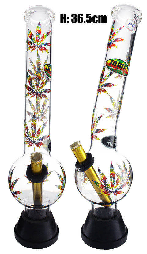 XLarge Glass Bonza Bubble - Colorful Leaf (36.5cm)