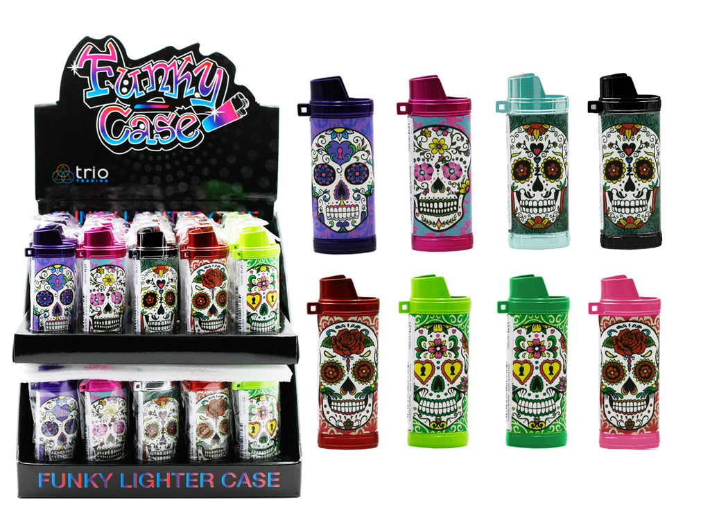 Candy Skull Lighter Case