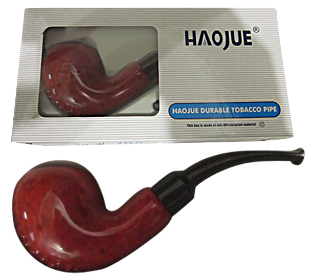 Shiney Marble Red Tobacco Pipe