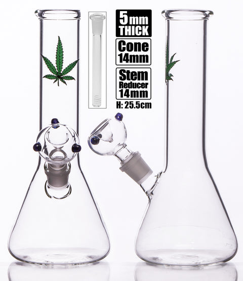 MWP Medium Beaker With Green Leaf