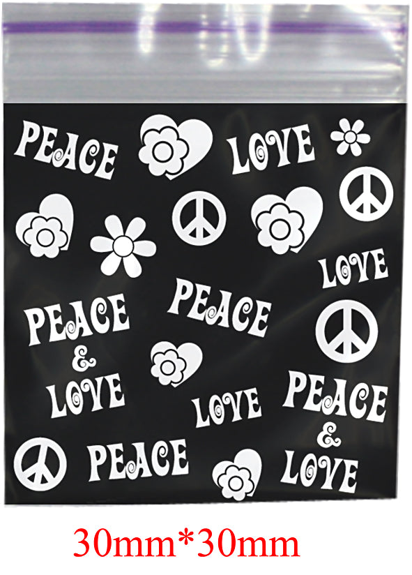 Peace Printed Bag 30mm X 30mm