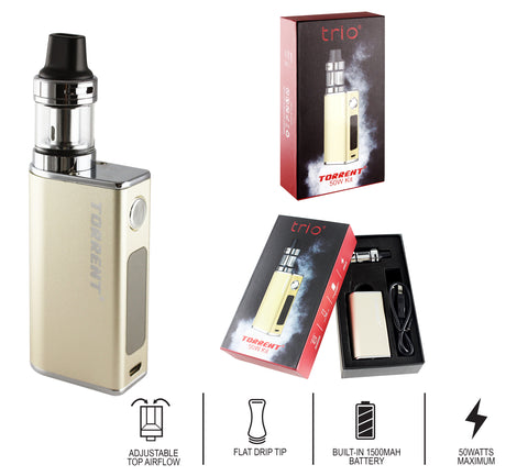 Trio Vapes - Torrent 50W Kit - Gold