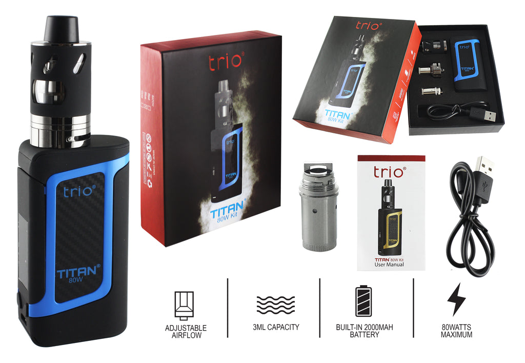 Trio Vapes - Titan 80W Kit - Blue